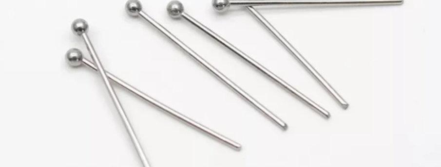 304 RVS Nietstiften 50mm kleur: Antiek Zilver - 10 Stuks