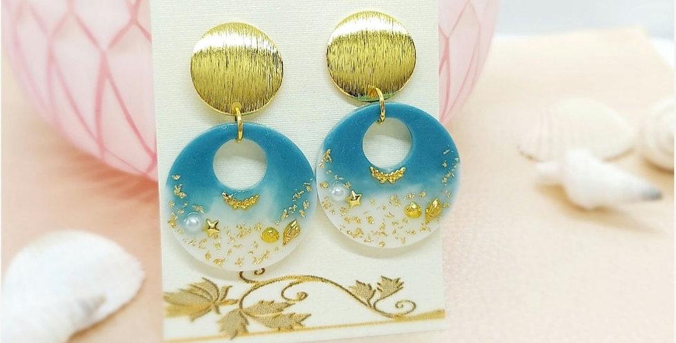 Handgemaakte oorbellen met Resin Hangers