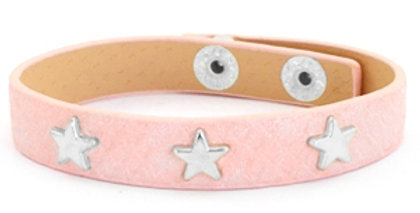Armband silver star Dusty pink