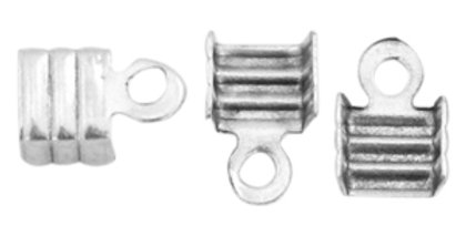 DQ veterklem 3mm Antiek zilver (nikkelvrij) - 10 Stuks