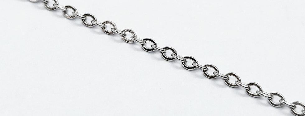 RVS ketting voor sieraden te maken 1.5mm Antiek Zilver - 3 meter