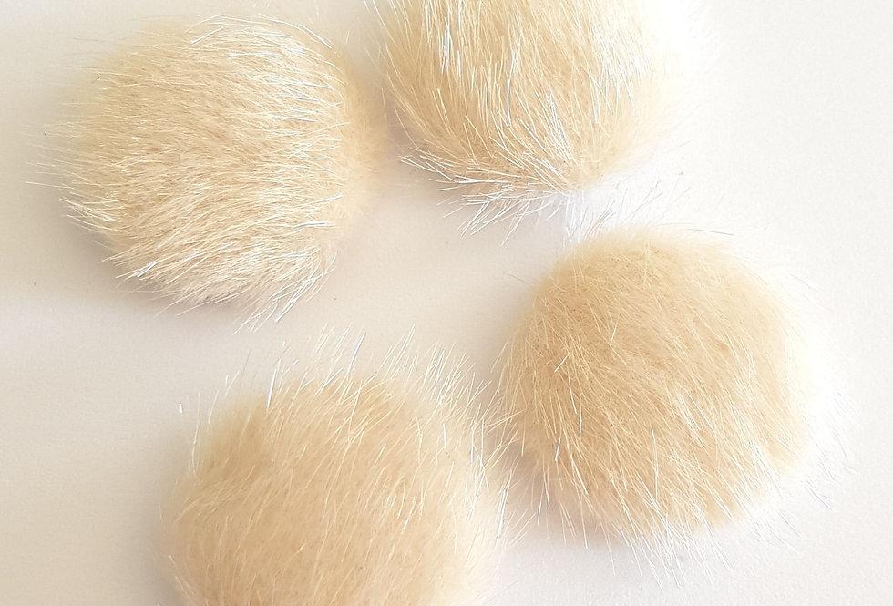 Cabochons faux fur 20mm - 4Stuks