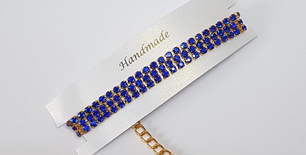 Handgemaakte armband met strass steentjes