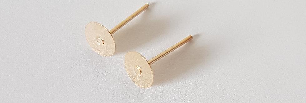 Metalen Earpins 6mm KC Goud - 10Stuks