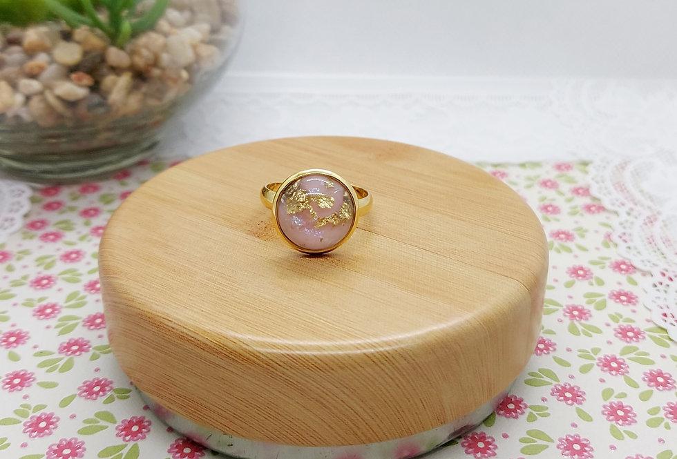 Verstelbare Stainless Steel Ring Goud/Roze