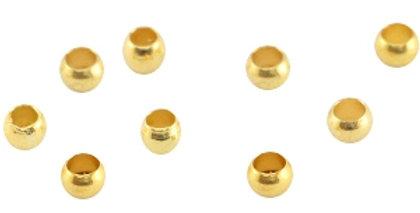 DQ metalen knijpkraal 3.0mm Goud (nikkelvrij) 150stuks