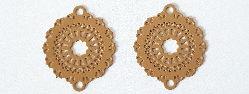 Bohemian tussenstuk 2x2cm - 2 stuks