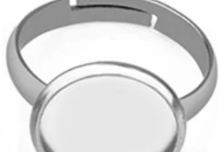RVS Ring Setting voor 12mm Cabochon - 1 Stuk