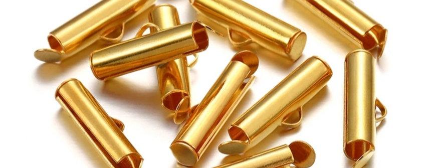 Eindcap voor geweven kralenarmband 13mm - 10 Stuks