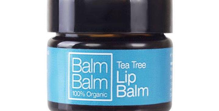 Tea Tree Organic Lip Balm Pot 15ml