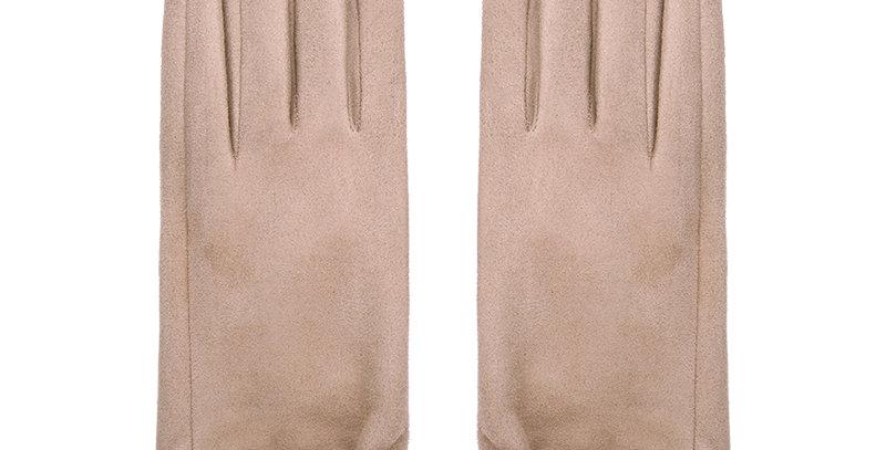 Stijlvolle handschoenen met PU leren details