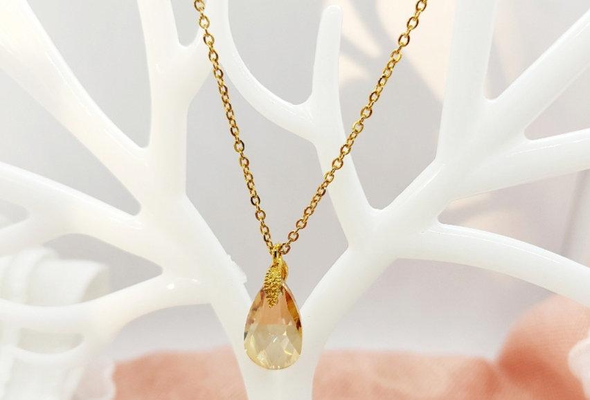 Handgemaakte Halsketting met Hanger van Crystal Glass