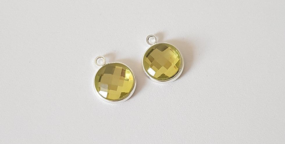Hangers van Crystal Glass 13x15mm - 2Stuks