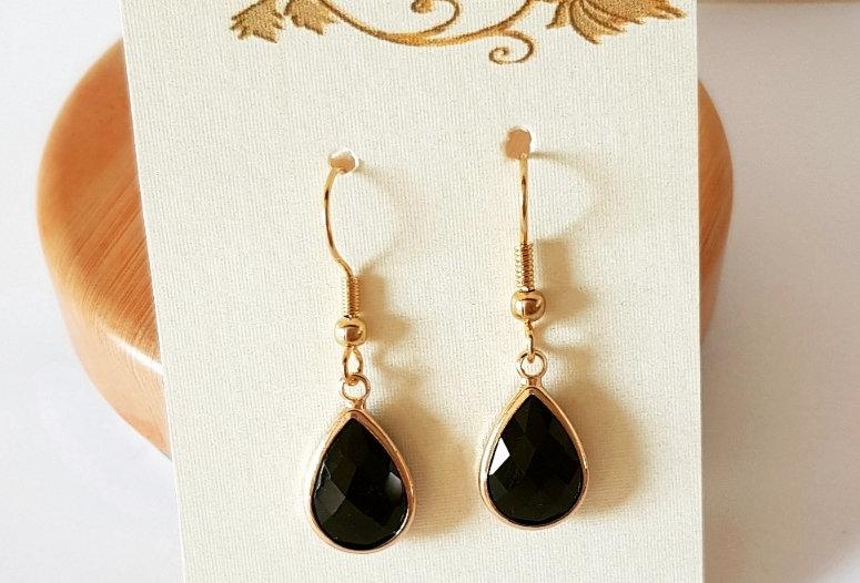 Mooie oorbellen met hangers van Crystal Glass - Nikkelvrij