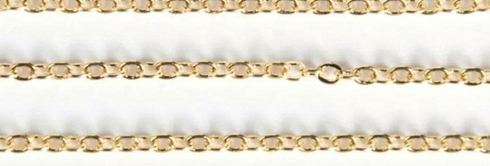 1.5mm Ketting om sieraden te maken Goud  - 2.5 meter