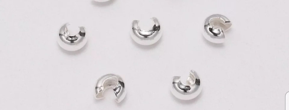 Knijpkraal verbergers  Zilver 5mm 20stuks