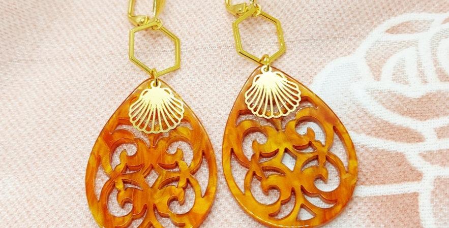 Handgemaakte oorbellen met hangers van Resin - Nikkelvrij