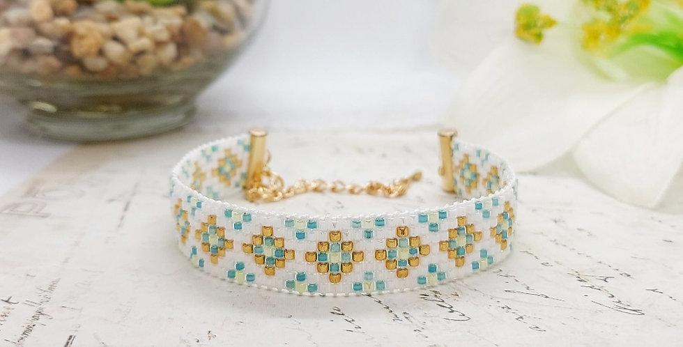 Handgemaakte armband met Miyuki kralen - Multikleur