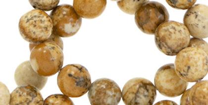 4 mm kralen natuursteen Tan brown - 94 Stuks