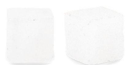 4 mm Natuursteen Kralen square Crystal opal white - 45 Stuks