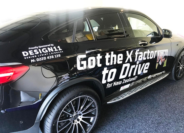 Long Drive NZ Team Vehicle Signage