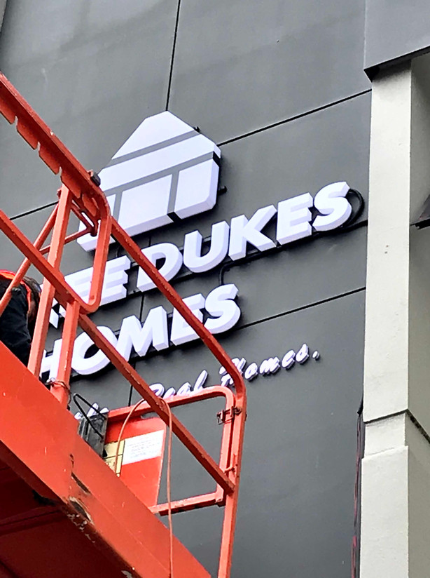 Three Dukes Homes LED Building Signage I