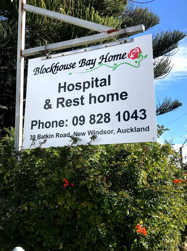 Blockhouse Bay Homes Hanging Sign