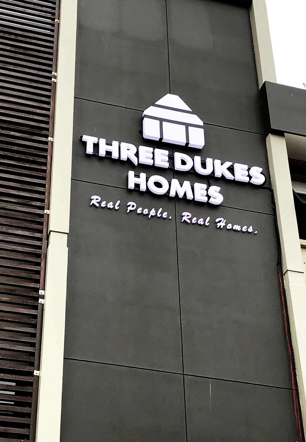 Three Dukes Homes LED Building Signage