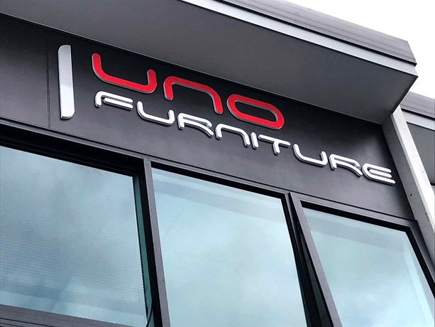 Uno furniture 3D Building Signs