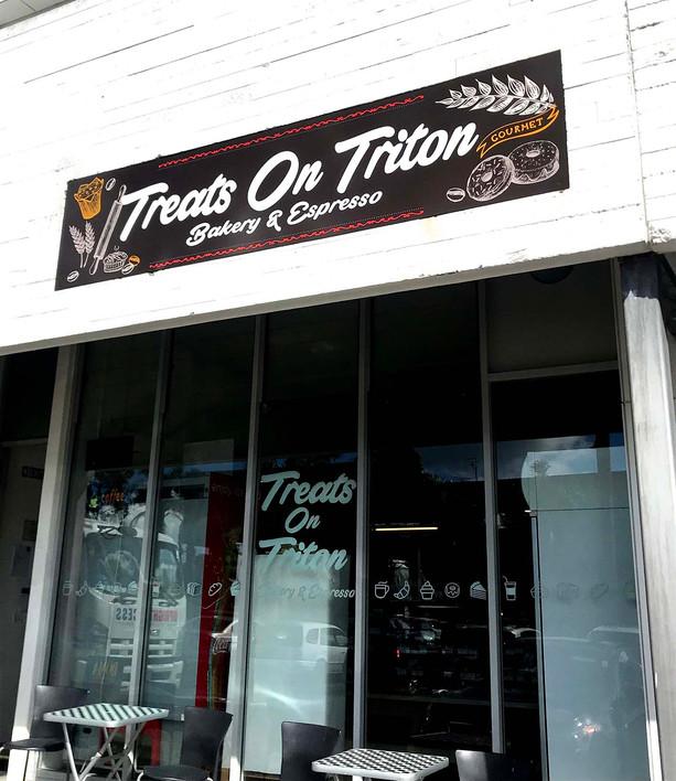 Treats on triton bakery sign