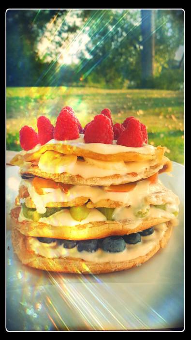 Perfektes Frühstück - Rainbow Pancakes