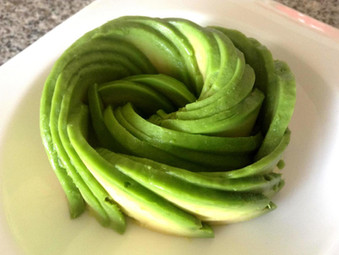 DIY Avocado Rose
