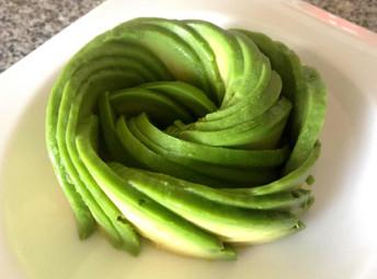 DIY Avocado Rose