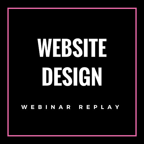 Website Design Webinar