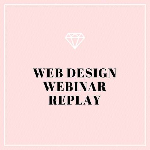 "Web Design Webinar ""Replay"""