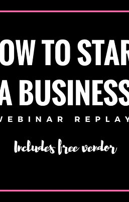 How To Start A Business Replay (Vendor info)