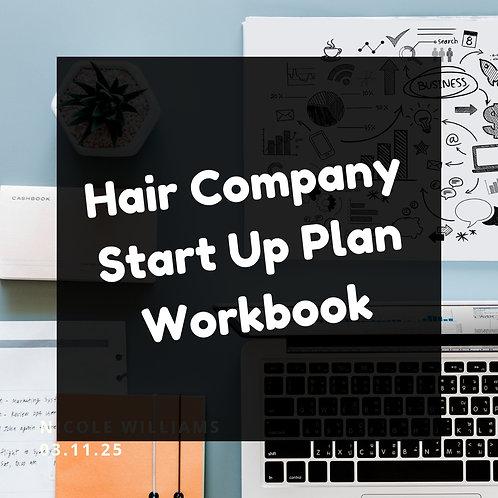 Hair Company Start Up Plan Workbook