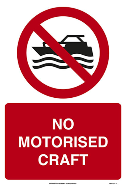 No Motorised Craft WS - 11