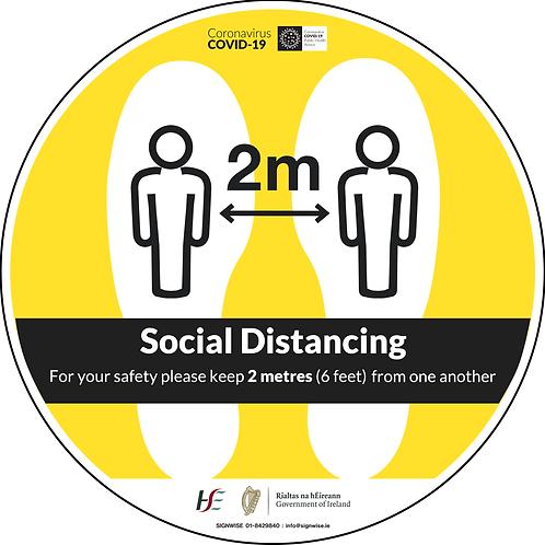 Social Distancing Floor Graphics - Circle 8