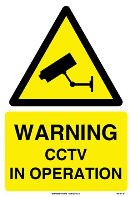 Warning CCTV In Operation (SS-02)