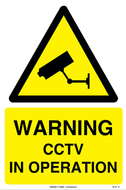 Warning CCTV In Operation IS - 19