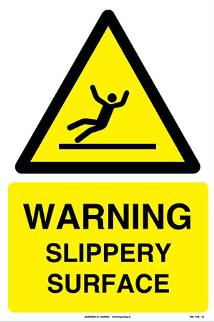 Warning Slippery Surface FHS - 12