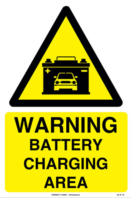 Warning Battery Charging Area IS - 09