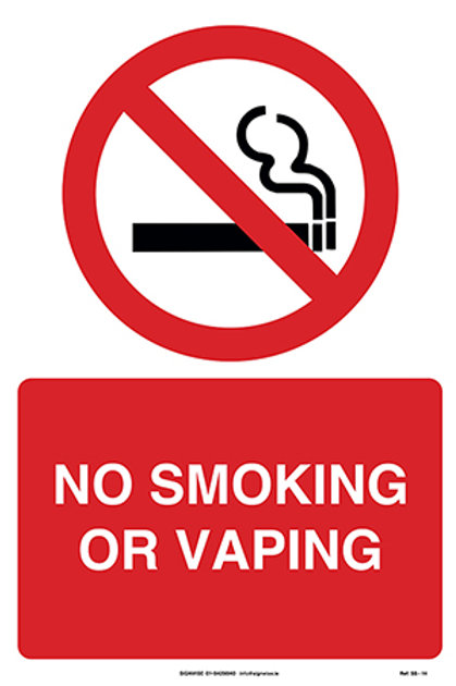 No Smoking or Vaping SS - 14