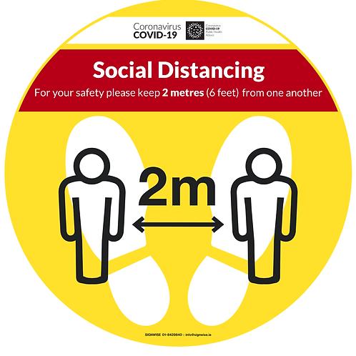 Social Distancing Floor Graphics - Circle 3