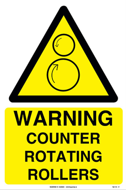 Warning Counter Rotating Roller-Up IS - 17