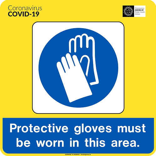 Gloves must be worn Vinyl 200 x 200mm