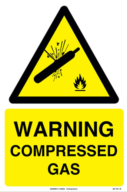 Warning Compressed Gas FHS - 08