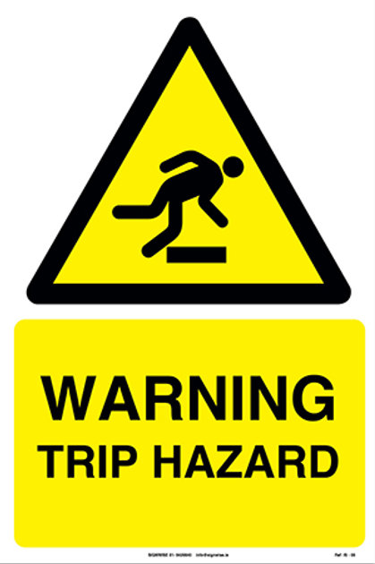 Warning Trip Hazard IS - 08