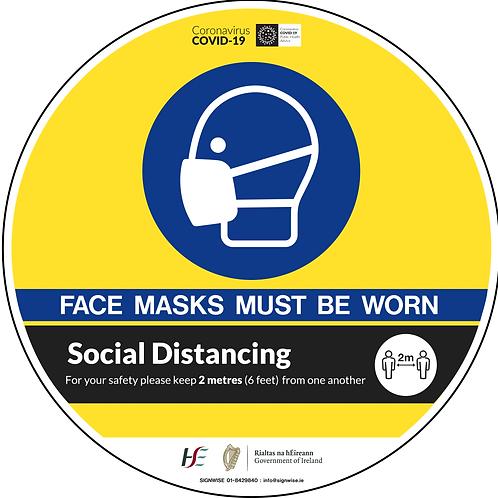 Social Distancing Floor Graphics - Circle 9
